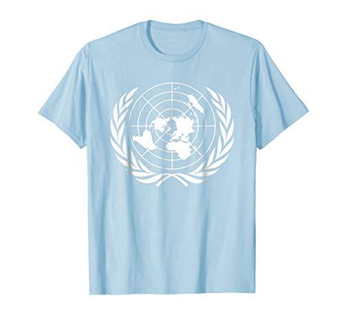 Mens United Nations Flag T-Shirt - United Nations Tee Shirt Small Baby Blue
