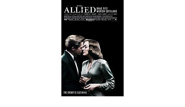 ALLIED Original Movie Promo Poster 11 x 17 Inch Brad Pitt Marion Cotillard