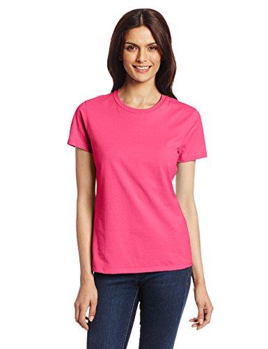 Hanes Women's Nano T-Shirt, Small, Wow Pink ()