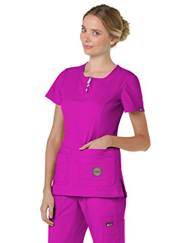 KOI lite 317 Women's Serenity Scrub Top Mulberry L (Uniforms Dickes Women)