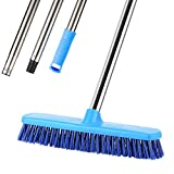 """YCUTE Push Broom 12.2"""" Rough-Surface Floor Scrubbing with 51.6"""" Detachable Stainless Steel Long"""