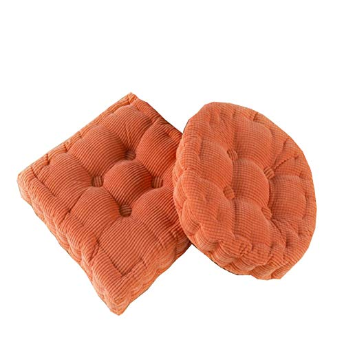 Unove Thicken Corduroy Chair Pad Meditation Cotton Floor Pillow Car Seat Heightening Mat Office Chair Cushions