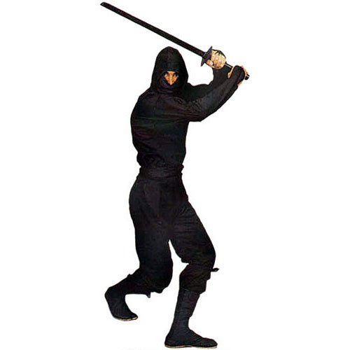 Gungfu Authentic Ninja Uniform in Classic Black - Color: Black, Size: X-Small -