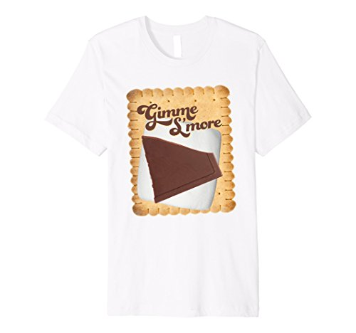 S'mores Costume Family (Mens Gimme Give Me Smores Shirt Large White)