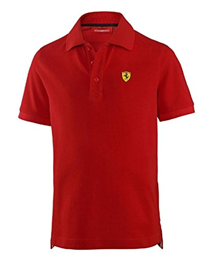 Ferrari Kids Red Shield Logo Polo - Shield Ferrari Logo