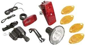 Profex - Juego de faros y reflectores para bicicleta (12 piezas, funcionamiento con dínamo)