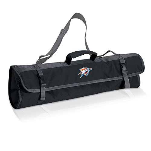 NBA Oklahoma City Thunder 3-Piece BBQ Tool Set with Carry Tote