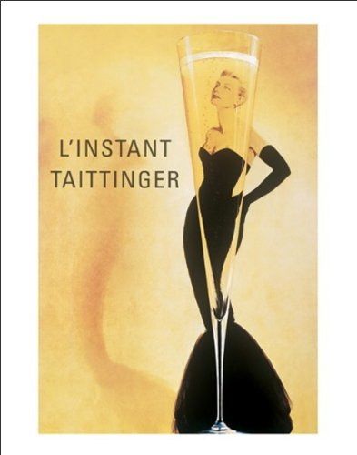 Beyond The Wall L'instant Taittinger Vintage Champagne (Grace Kelly) Alcohol Advertising Art Poster Print (11x14 UNFRAMED Print)