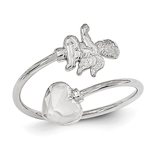 Cupid White Gold Ring - Top 10 Jewelry Gift 14k White Gold Cupid Toe Ring