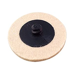 "HYCC 10 pc Roloc Style 2"" Compressed Wool Fabric QC Disc Polishing Buffing Pads Wheels"