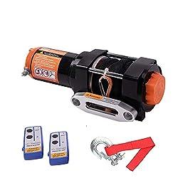 ORCISH 12V 3500lb Electric Winch ATV UTV Synthetic Rope Winch Kits