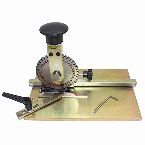 Manual Marking Machine Deboss Embossing Machine Dog Tag Metal Plate Stamping Embosser with 4mm Print Wheel by Wang
