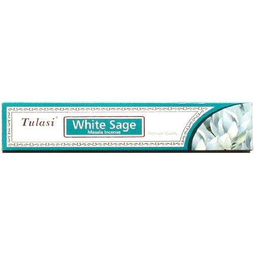 Star Incense White - White Sage -Tulasi Premium Masalas - Sarathi - 15 stick box - Sets of 4 boxes