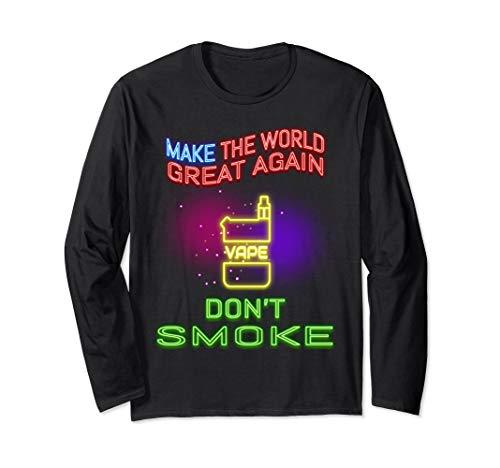 Funny neon sign retro 80s don't smoke Vape shirt