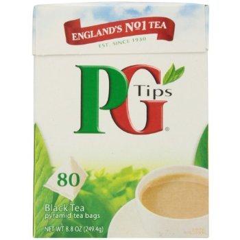 Box Parfum Miniature - PG Tips Black Tea, Pyramid Tea Bags, 80 Count Box ( 8.8oz)