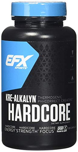 EFX Sports Kre-Alkalyn Hardcore Capsules, 120 Count Review