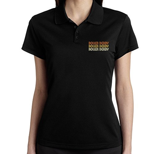 Teeburon Roller Derby RETRO COLOR Polo Donna