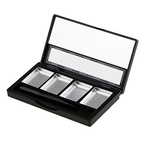Homyl Hot Sale Empty 4/5 Grids Eyeshadow Lipstick Powder Box Case Cosmetic Packing with Palettes Kit - 4 Slots
