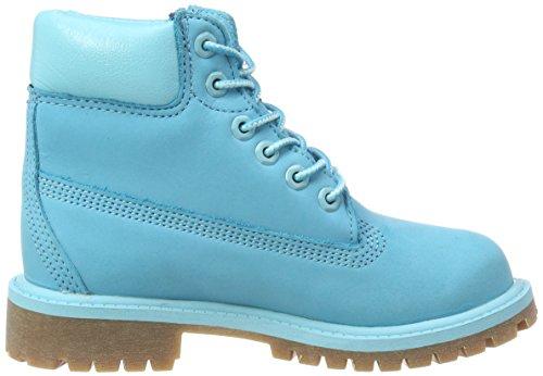 Timberland 6 Inch Premium Waterproof, Botas Clasicas Unisex Niños Azul (Scuba Blue Waterbuck 414)