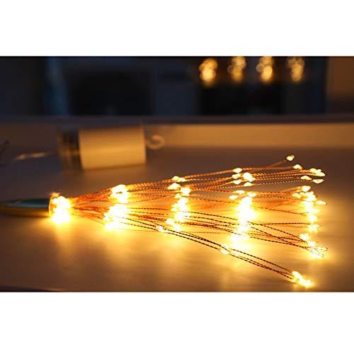 HIKO23 Fireworks Lamp String Decoration Light String Outdoor Courtyard Lighting LED Halloween Creative DIY (Yellow, 200 LED Lights) -