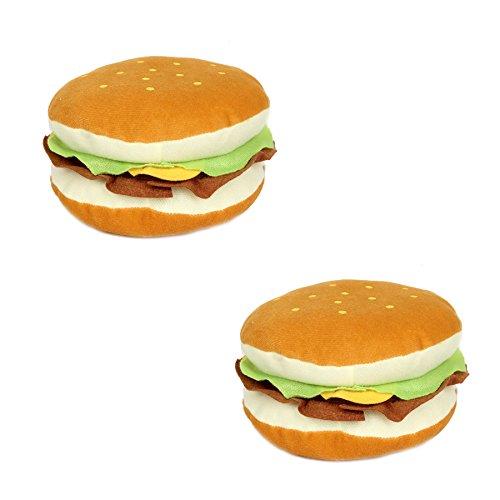 FreshGadgetz Set of 2 Inventive Soft Plush Hamburger Shape CD/DVD Storage Case Bag -24-disc