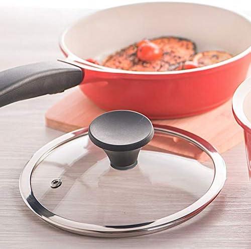 Antiadhésif Lait Pan Soupe avec Couvercle, Poignée Ergonomique, Convient for Cuisinière À Gaz/Cuisinière À Induction/Électrique Poêle en Céramique (Taille : 18cm)