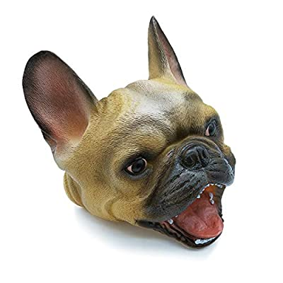 Tecesy Bulldog Hand Puppet, Dog Toys Role Play for Kids, Animal Gloves, Soft Rubber Realistic Bulldog Head: Toys & Games