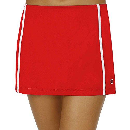 Wilson Women's Team Tennis Skirt, Red/White (Medium) (Skirt White Wilson)