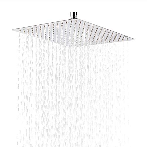 LORDEAR F01080CH 10 Inch Rejuvenator Rainforest Rainmaker Giant Shower Head 10 Inch 304 Stainless Steel Showerhead Polished Chrome