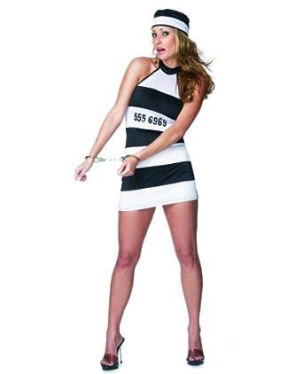 Amazon.com: Disfraz de prisionero de la mujer: Clothing