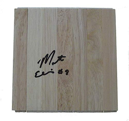 Indiana Pacers Monta Ellis Autographed Hand Signed 6x6 Parquet Floorboard with Proof Photo, Dallas Mavericks, Golden State Warriors, Milwaukee Bucks, COA - Basketball Floor ()
