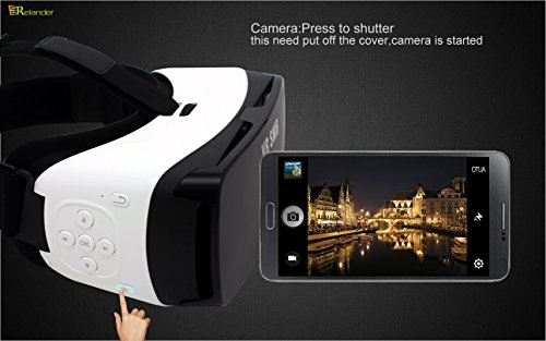 Crelander Virtual Reality Headset Bluetooth Built-in Eye Protected HD Adiustable Headset 3D Zoom Glasses with Adjustable Lenses & Head Strap for IMAX Movie Game Andriod/IOS Cellphone (Work with Siri) by Crelander (Image #7)