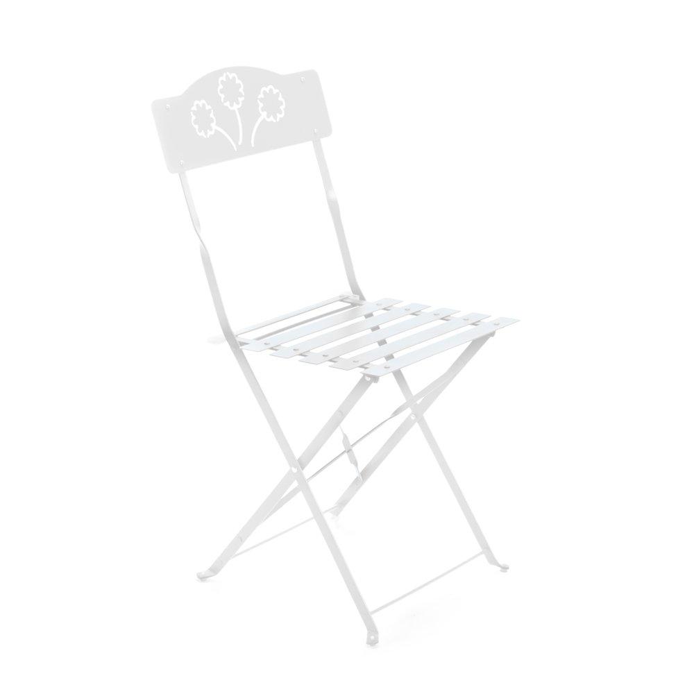 Q.bo Sedia pieghevole salvaspazio in ferro bianco arredamento giardino esterno 06177 Q.bo.