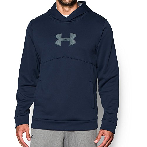 Under Armour Men's Storm Icon Logo Hoodie, Midnight Navy (410)/Stealth Gray, ()