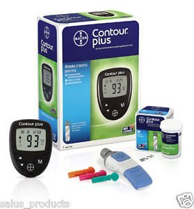 Contour Plus Blood Glucose Monitoring System Glucometer With 25 Free Strips