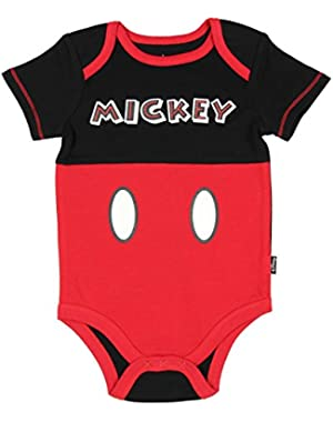 Assorted Disney Mickey Mouse Baby Boys Bodysuit Dress-Up Outfit