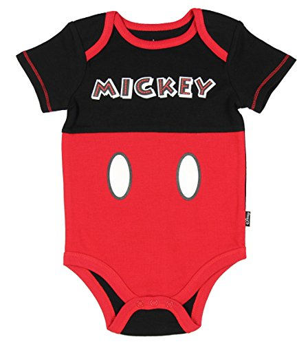[Disney Mickey Mouse Baby Creeper Baby Bodysuit Dress Up Outfit Baby Boys' (6-9 Months)] (Disney Dress Up For Boys)