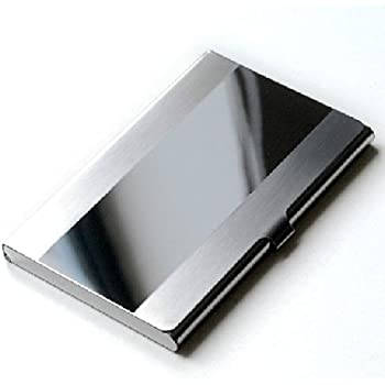 Ascetic Tour Stainless Steel Id Holder Card Case Business Box Case Bank Organizer Mirror