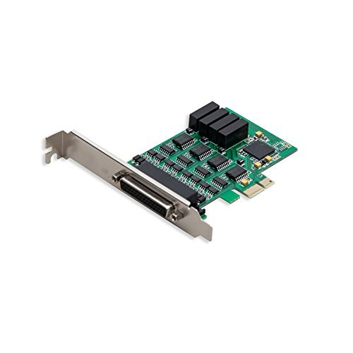 IO Crest 4 Port RS-232 Serial PCIe 2.0 X1 Controller Card Components SI-PEX15042 by Syba