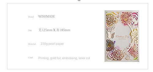 100x Wishmade CW065 Colorful Flower Wedding Invitations Cards DHL shipping by wishmade (Image #7)