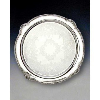 Shell Round Platter (Reed & Barton Shell and Gadroon Round Tray,)