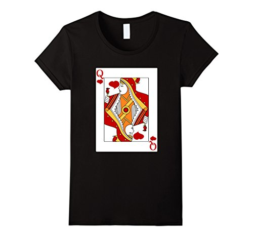 Womens Deck Of Cards Halloween Queen of Hearts Couple Costume Shirt Medium Black (Unique Halloween Costumes For Couples 2017)