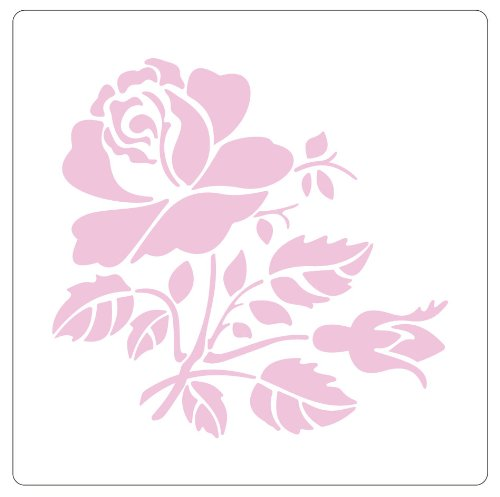 Faux Like a Pro Rose Stencil, 5.5 by 7-Inch, Single Overlay ()