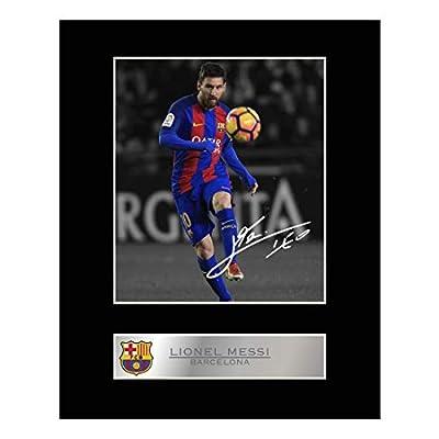 iconic pics Lionel Messi Mounted Photo Display Barcelona