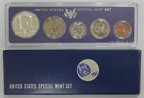 1967 P U.S. Mint - 5 Coin Uncirculated Set with Original Governmetn Packaging Uncirculated