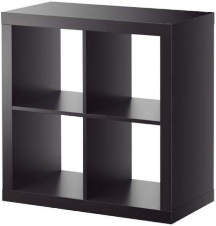 IKEA EXPEDIT - Estantería, negro-marrón - 79x79 cm: Amazon.es ...