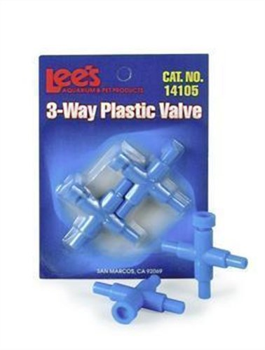 Products Lees Airline Pet (Lee's Pet Products ALE14105 2-Piece 3-Way Plastic Valve for Aquarium Pumps)