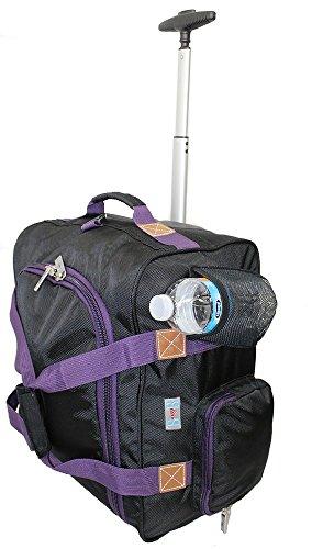 Boardingblue Rolling Personal Item For Alaska  Delta  Southwest Virgin Australian  Purple