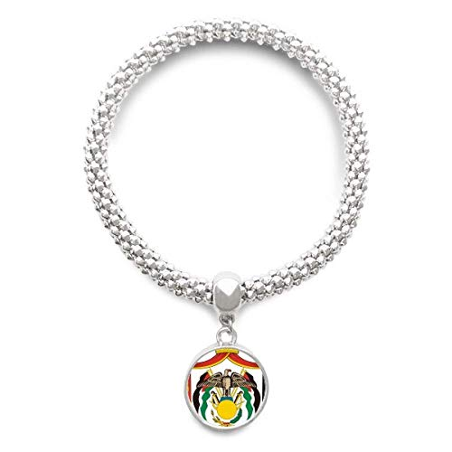 DIYthinker Jordan National Emblem Country Sliver Bracelet Round Pendant Jewelry Chain by DIYthinker