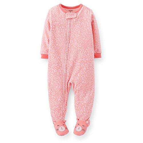 Carter's Little Girls' Fleece Footie (Toddler/Kid) - Cat - 4T